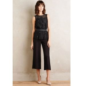 Anthropologie Meadow Rue Stargazer Peplum Top